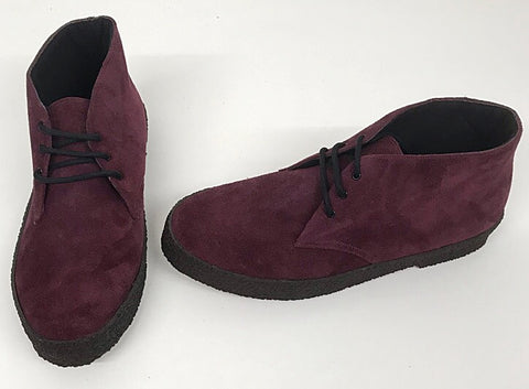 Chukka Boots Burgundy Suede  IN STOCK NOW