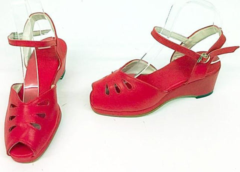 Rita Wedge Sandals Red - IN STOCK NOW
