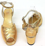 Rita Wedge Sandals Gold H-Back - IN STOCK NOW