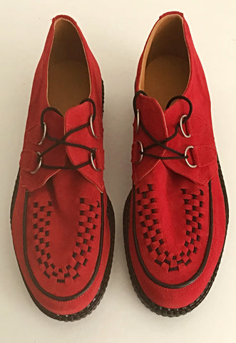 Creeper Red Suede D-ring  IN STOCK NOW END OF LINE size 10½