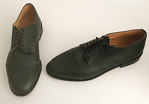 Oxford Racing Green Leather  IN STOCK NOW  size 13