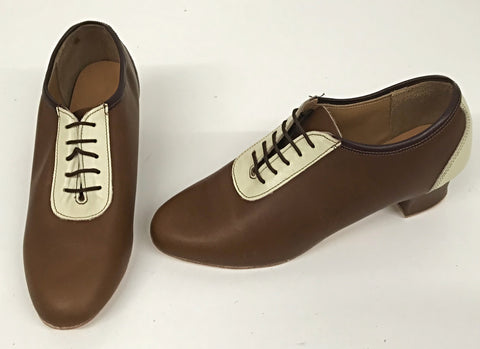 Lindy Brown/Cream  IN STOCK NOW size 5 ½