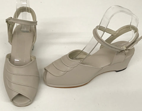 Lauren Wedge Sandals Nude - IN STOCK NOW size 3