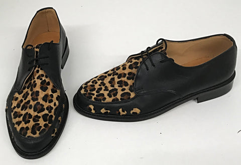 B Gibson Black / Cheetah with Diamonds IN STOCK NOW size 7½