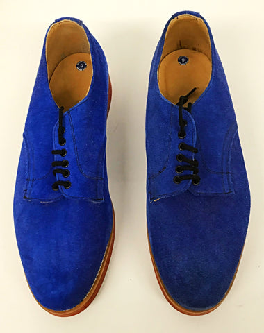 Bucks Blue Suede Red EVA Sole  IN STOCK  size 9