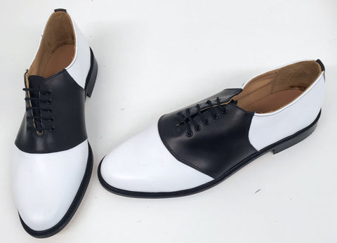 Saddle White/Black Leather sole  END OF LINE SALE size 12
