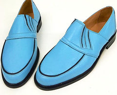 50s Slip On Baby Blue/Black Piping IN STOCK ONLY