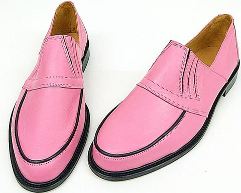 50s Slip On Baby Pink/Black Piping IN STOCK ONLY