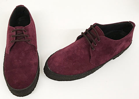 Chukka Shoes Burgundy Suede  IN STOCK NOW