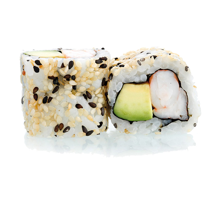 CALIFORNIA ROLL - California crevettes avocat cheese - California roll à base d'avocat, de crevettes et de fromage servi par 8