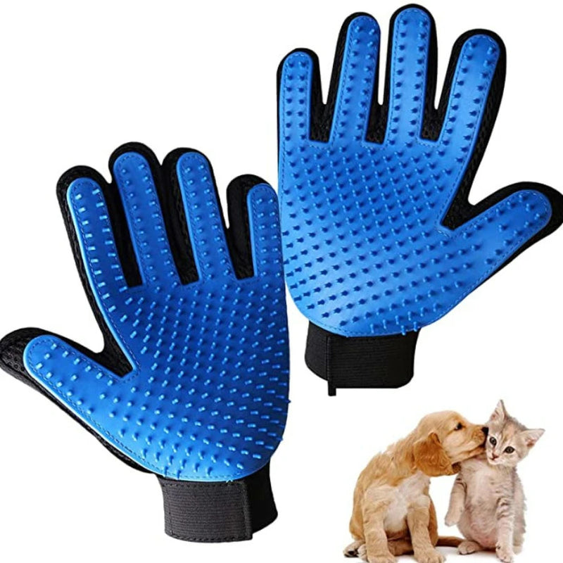 Pet Brushing and Grooming Gloves