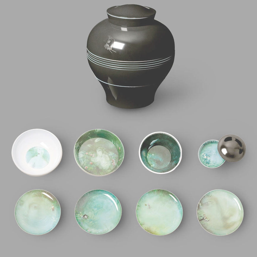 Yuan Collection Black  Tableware   IBRIDE - House of Folly