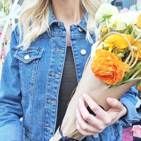 Valentine's Day bouquets at the BOXFOX pop up shop