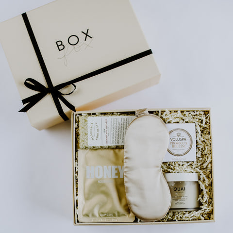 Golden Pamper Gift Box BOXFOX, golden gift box, golden pamper gift box, boxfox, relaxation boxfox