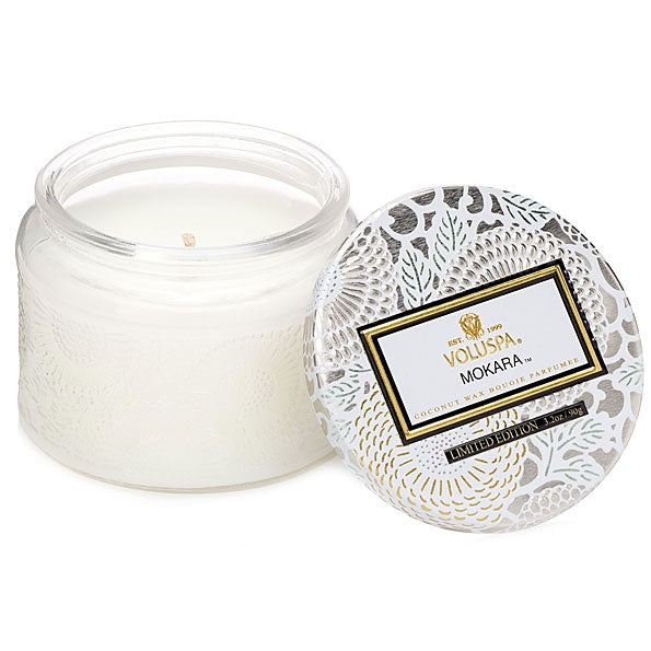 Mokara Small Glass Jar Candle