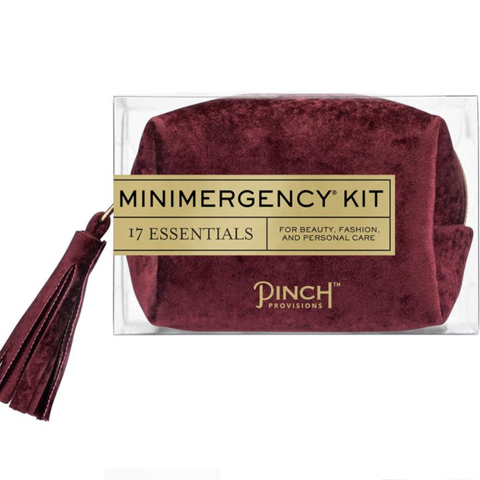 Oxblood Velvet Minimergency Kit
