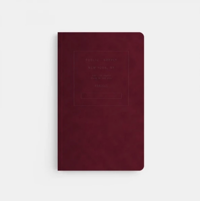 Burgundy Velvet Notebook