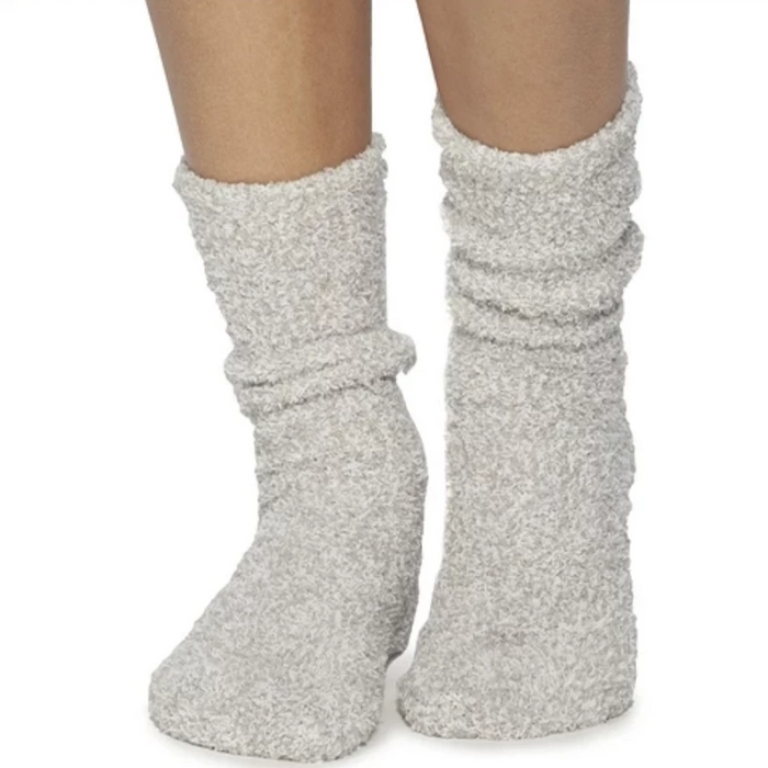 Oyster White Cozy Socks