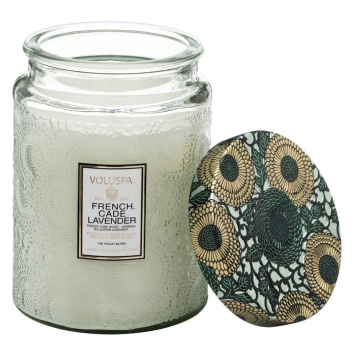 Large French Cade Lavender Candle