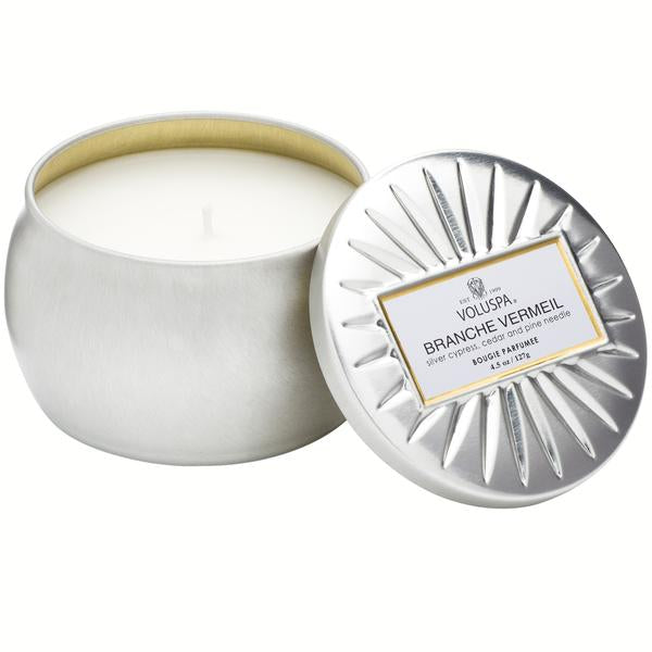 Branche Vermeil Small Tin Candle