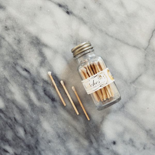 Mini White Match Bottle