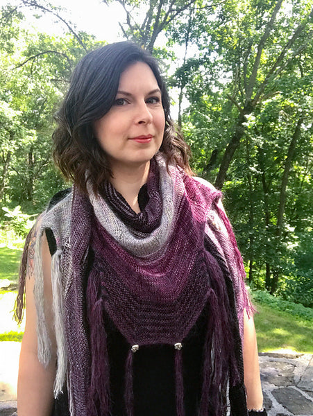 Building Blocks Sample Shawl by Stephen West