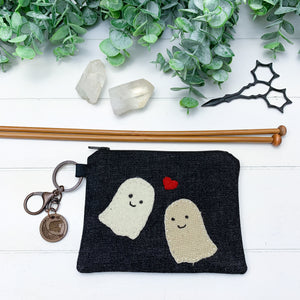 Ghost Love - Extra Small Flat Notions Pouch