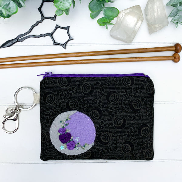 Purple Moon - Extra Small Flat Notions Pouch