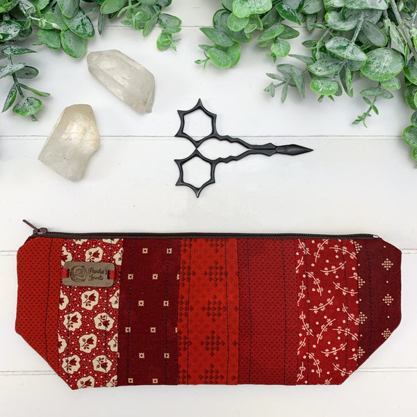Red Love- Small Artisan Notions Pouch