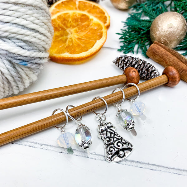 Silver Bells Stitch Marker Set