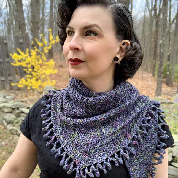 Midnight Swirls Crochet Shawl