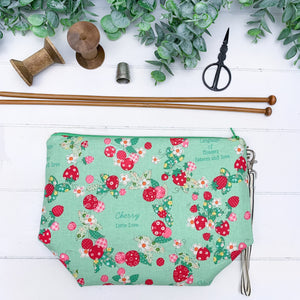 Retro Berry-  Green Small Gusset Bag