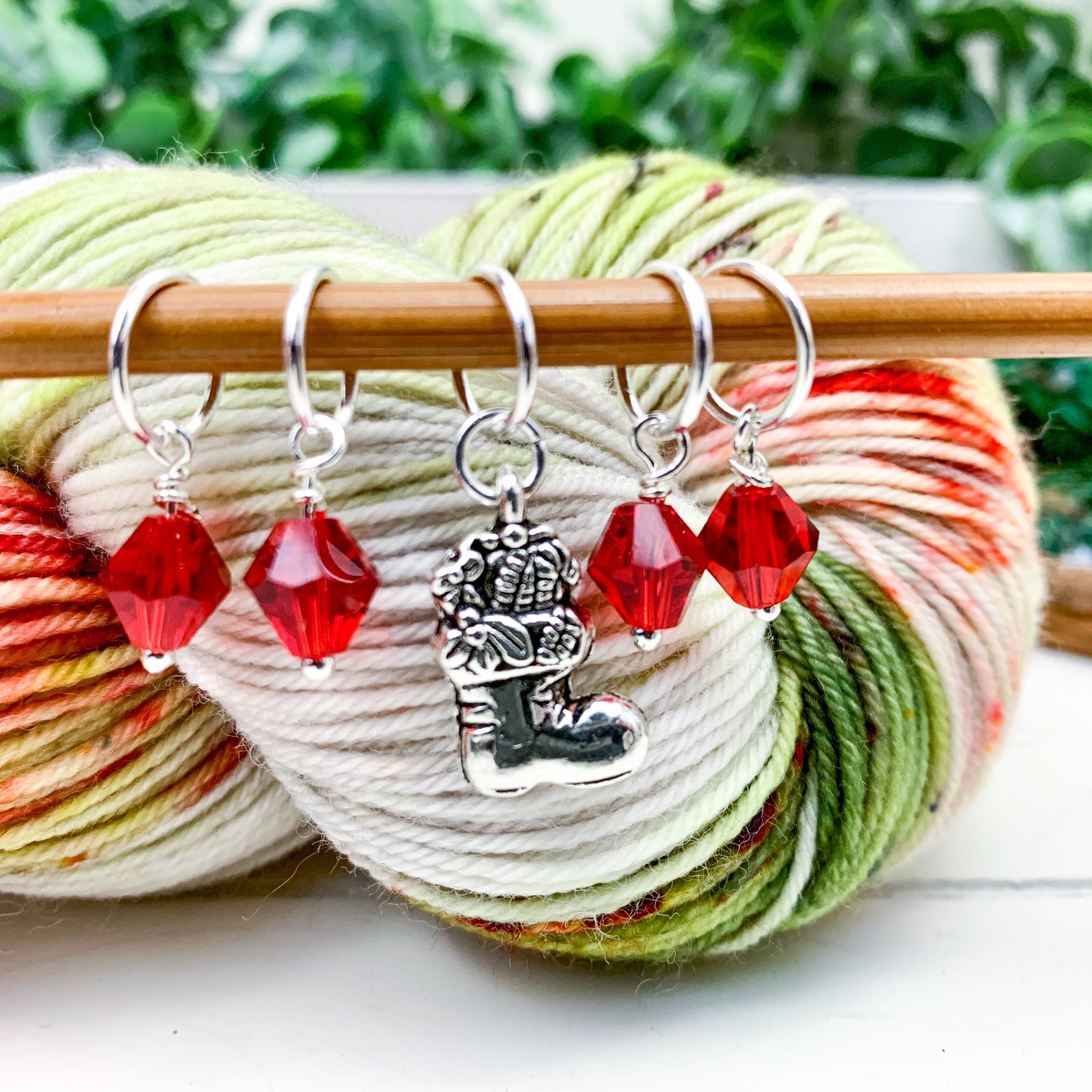 Holiday Stocking Stitch Markers