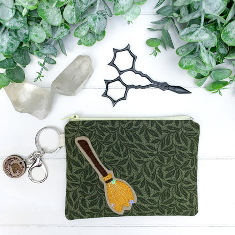 Green Witch - Extra Small Flat Notions Pouch
