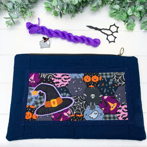 Witch Hat- Large Flat Artisan Hexi Pouch