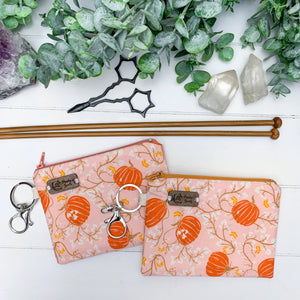 Sugar Pumpkin- Extra Small Flat Notions Pouch