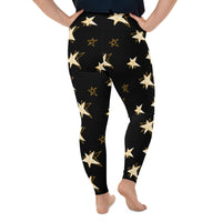 Gold Star Plus Size Leggings