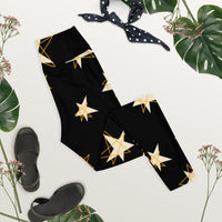 Gold star Yoga Leggings