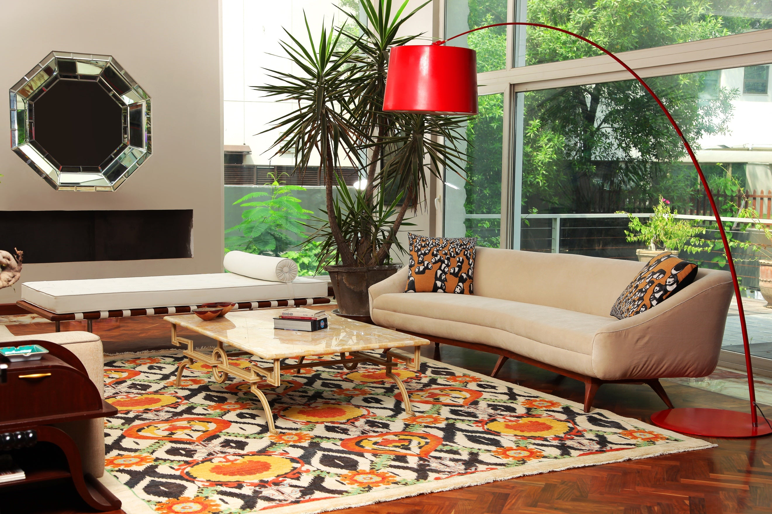 Patterned rugs are an amazing way to give any room a bold new look.