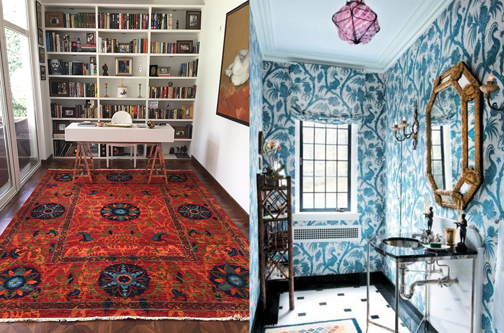 Liven up small overlooked spaces with big, bold patterning.