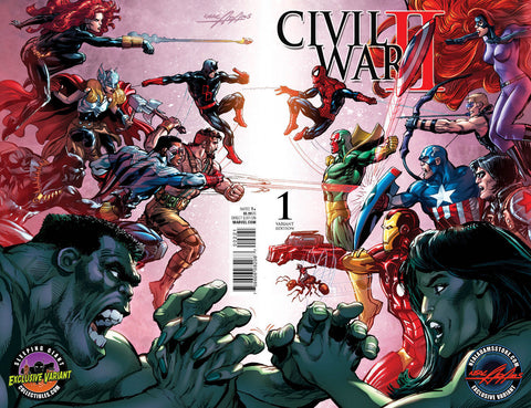 Civil War II issue 1 Neal Adams Exclusive Variant