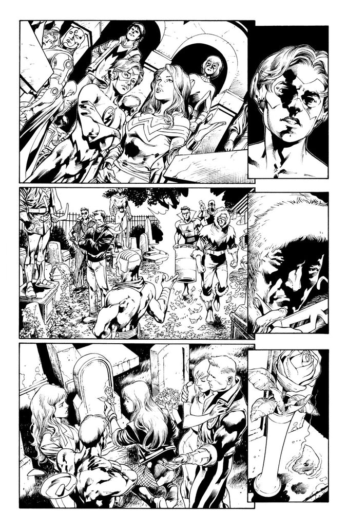 Blackest Night issue 1 page 10 Ivan Reis