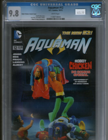 Aquaman 12 Robot Chicken variant cover CGC 9.6