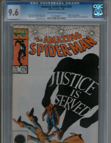 Amazing Spiderman 278 cgc 9.6
