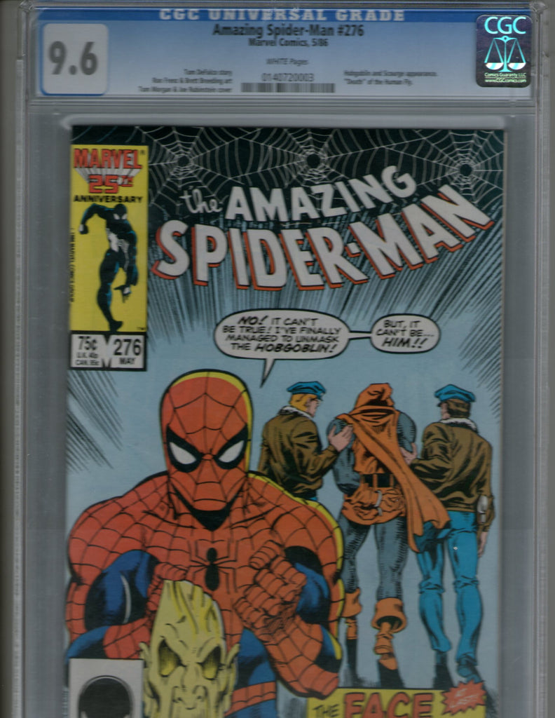 Amazing Spiderman 276 cgc 9.6