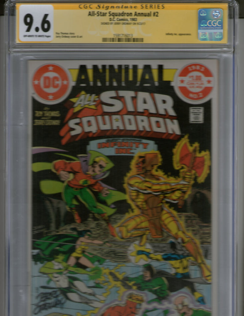 All-Star Squadron Annual  2 CGC 9.6 Signed by Jerry Ordway
