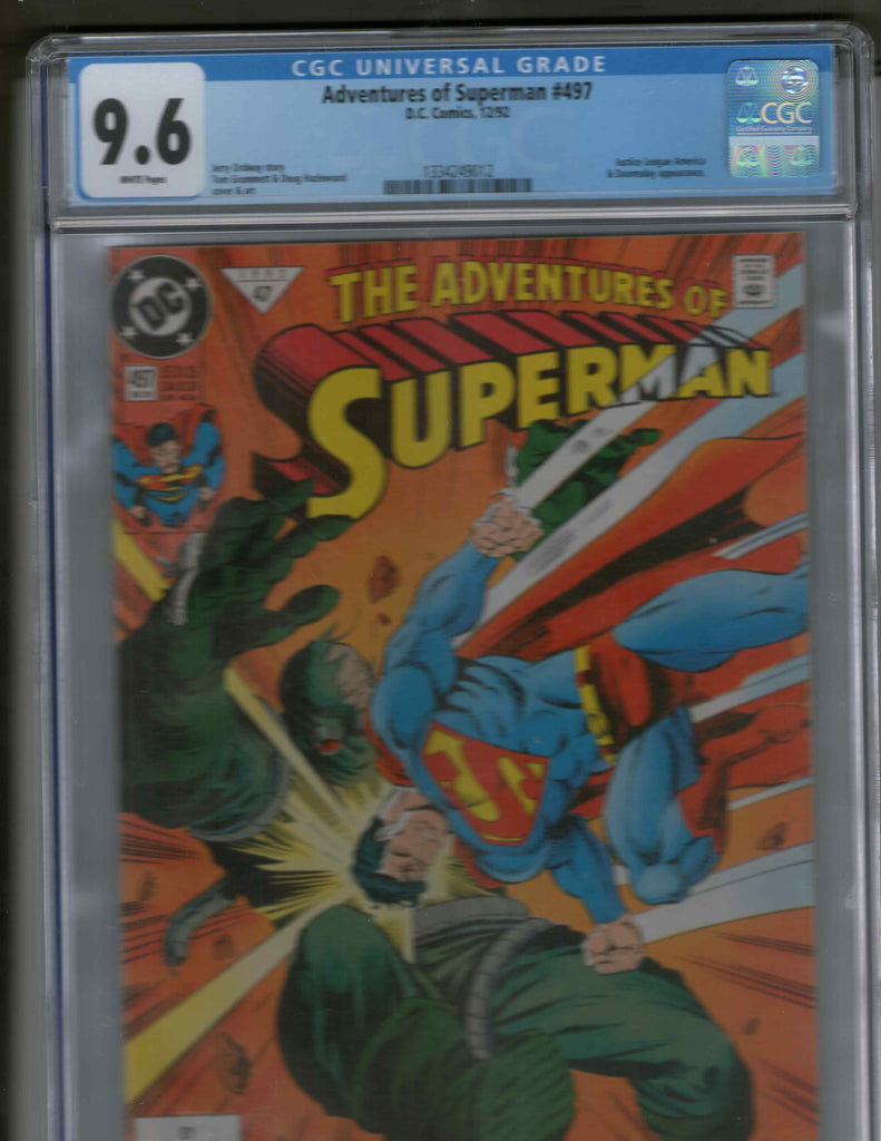 Adventures of Superman 497 CGC 9.6