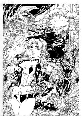 Harley Quinn 1 by Ed Benes Exclusive Rodman Comics cover