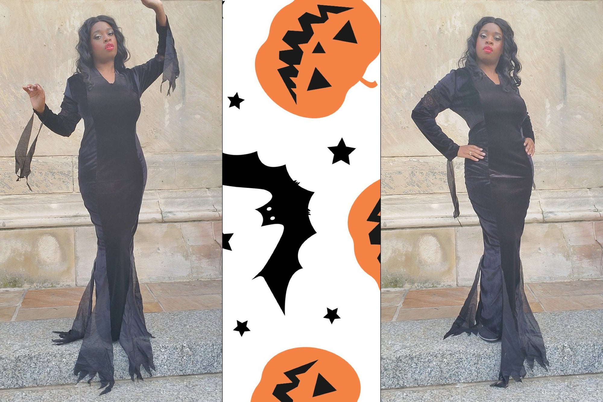 DIY Cosplay: Morticia Adams Dress Halloween Edition