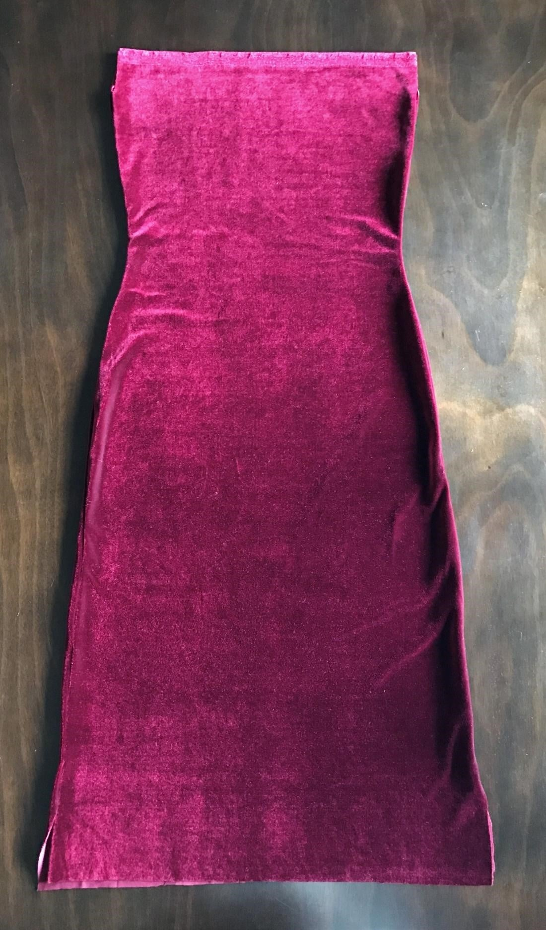 diy fold over off the shoulder velvet dress tutorial fabric